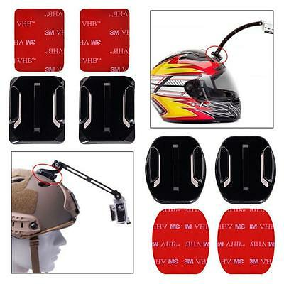 Adjustable Helmet Side Curved Adhesive Mount Kit for Sony Cam Replace D