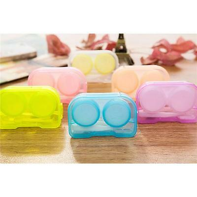 Travel Outdoor Cute Mini Storage Contact Lens Case Holder Mirror Box Container D
