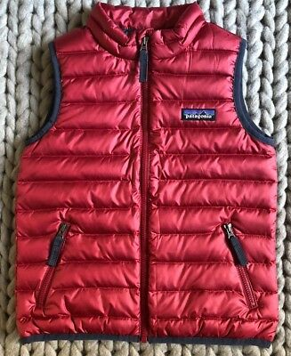 New Patagonia Baby Down Sweater Vest Classic Red Size 4t 79