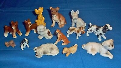 Lot Of 14 Vintage Collectible Dog Figurines-  Very Good To Excellent Condition