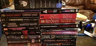 Vampire books HUGE LOT (mixed authors) 22 - paperback books (REDUCED)