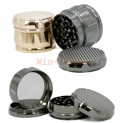 63MM 4 Layer Zinc Alloy Herb Spice Smoke Crusher Tobacco Grinder Hand Muller