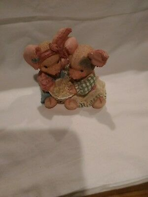 ENESCO This Little Piggy  'Never A Boar With You ' Pigs Figurine 1994