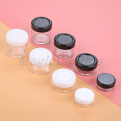 5pcs Plastic 2 Color Refillable Face Cream Jar Cosmetic Container 3g 10g 15g 20g