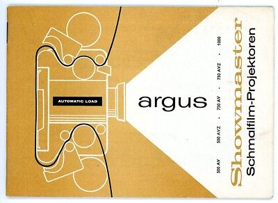 ARGUS Schmalfilm Projektor Bedienungsanleitung SHOWMASTER User Manual (Y36