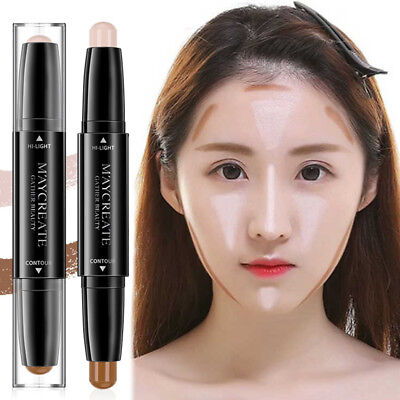 3D Dual Ended Highlighter Corrector Contour Stick Face Concealer Makeup Cosmetic