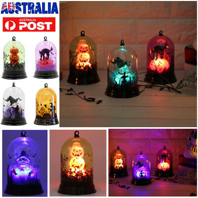 Halloween LED Night Light Lamp Pumpkin Witch Home Party Bar Table Decoration AU