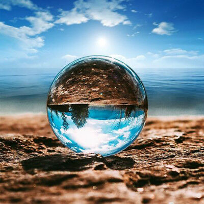 Glass Clear Crystal Ball 60mm/80mm Photography Lens Photo Prop Background Sphere