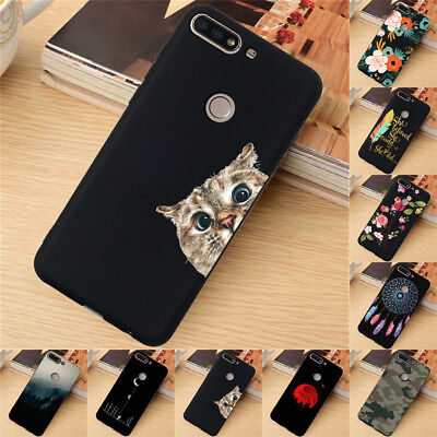 For Huawei Y5 Y6 Y7 Prime Y9 2018 Case Silicone Painted Slim Soft TPU Back Cover