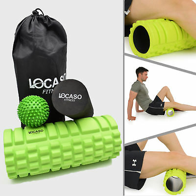 Grid Foam Roller&Massage Ball Yoga Pilates Muscle Physio Gym Fitness Exercise UK