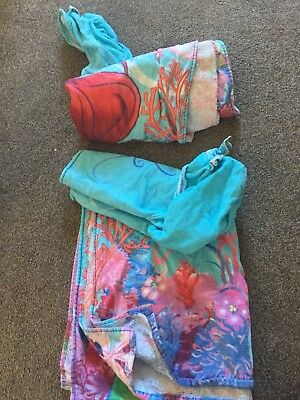 2 Ariel Girls Hooded Towel Bundle