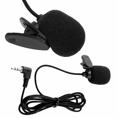 Mini 3.5mm Jack Plug Lapel Collar Clip On Mic Microphone For Speech Interview CU
