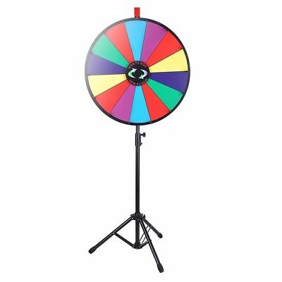 "WinSpin® 24"" Color Prize Wheel Fortune Folding Floor Stand Carnival Spinnig Game"