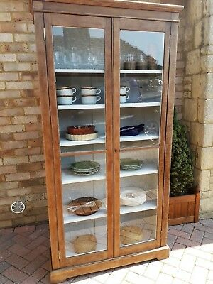 Vintage antique display cabinet bookcase dresser
