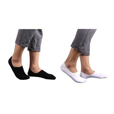 2/6Pairs Men's Invisible No Show Nonslip Loafer Boat Low Cut Cotton Socks CU