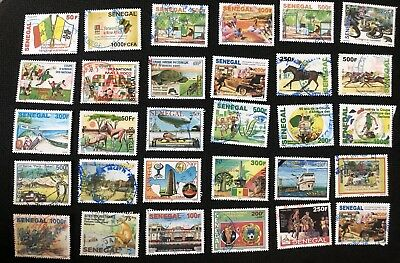 Gros lot 2 Scans Timbres Sénégal Récents Stamps