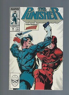Punisher 10 Aug 1988 Daredevil X-over Frank Castle Alfred Coppersmith Mike Baron