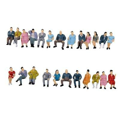 HO Scale 187 Painted Model People Figure / Seated Passenger Kids Baby Toys New