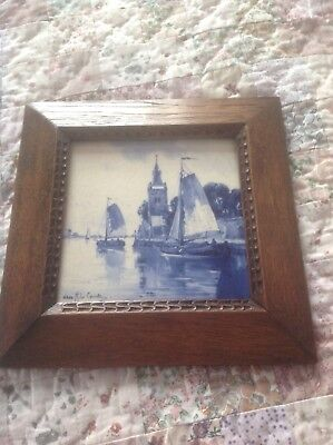 Signed Late 19th Century delft Tile