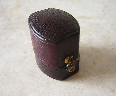 Antique Georgian / Victorian Fine Moroccan Leather Oval Ring Box - Hastings