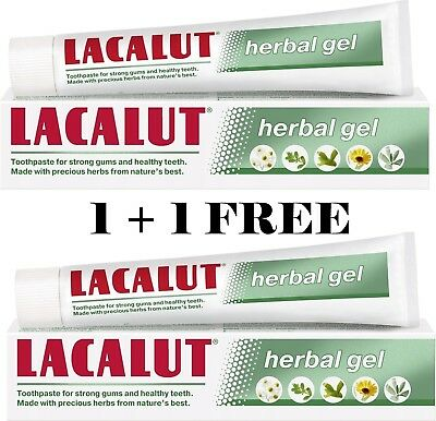 LACALUT Herbal GEL Active Repair Toothpaste Proven Remineralizing Effect 75 ml