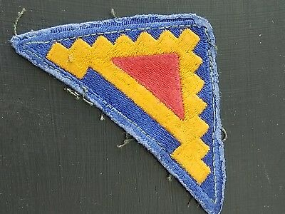 WWII US 7th Army  Cut Edge Shoulder patch