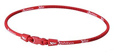 PHITEN X50 Original Necklace 45cm Red Free Shipping w/Tracking# New from Japan
