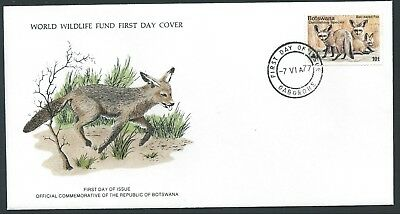 BOTSWANA 1977 SG396 10t  Bat-eared fox WWF FDC FDI CDS Gaborone Ltd Edition Rare