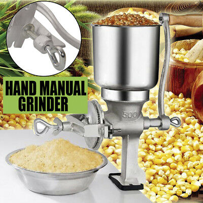 Manual Control Thickness Grinder Corn Coffee Food Wheat Grain Nut Mill Household