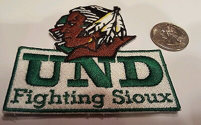 Und University of North Dakota Fighting Sioux embroidered iron on patch