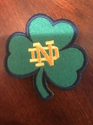 "Notre Dame Fighting Irish Vintage Embroidered Iron On Patch 3"" x 3""  Awesome"