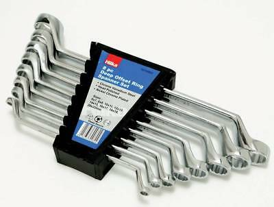 Hilka Professional Deep Offset Ring Spanner Set - Metric Ring Spanners 6-22mm