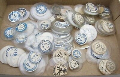 Lot Of 100 Antique Glass Pocket Watch Crystals Parts