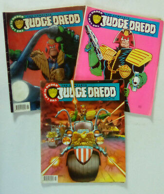 The Complete Judge Dredd Comics Job Lot of 3 Numbers  4,  5,   and  6