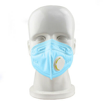 10x Cotton  Disposable Work Dust Masks Valved FFP3 Respirator Face Breathing