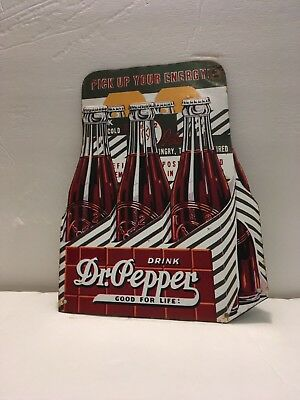 Dr. Pepper Tin Tacker Door Advertising Soda Pop Sign