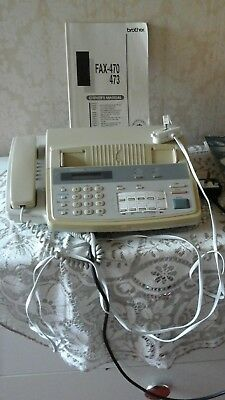 Brother Fax Machine - FAX-470 473 WITH  OWNERS  HANDBOOK  IN WORKING ORDER