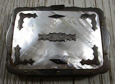 Mother of Pearl Purse Clutch Vintage 107.4 Grams
