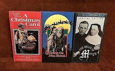 lot of 3 vhs christmas classic movies a christmas carol free - Christmas Classics Movies