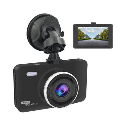 "Dash Cam 1080P Car DVR Dashboard Camera Full HD 3""LCD Screen 170°Wide Angle US H"