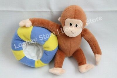 CURIOUS GEORGE Stuffed Plush Ball Clock 9230 By Applause Monkey Teddy Toy
