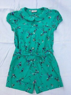 Girls Next Green Vintage Style Playsuit Age 6