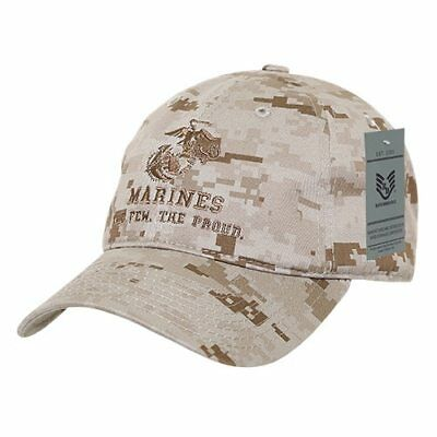 USMC US Marine Corp The Few The Proud DDG Relaxed Fit Military Hat Baseball Cap