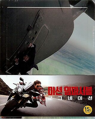 Mission Impossible: Rogue Nation Numbered SteelBook w/1/4 Slip Region A Korea