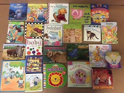 Lot of 22 Board Toddler Hardcover Picture DayCare Kid Child Books - UNSORTED F54