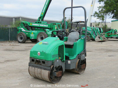 2011 Wacker Nesuon RD12A 36'' Smooth Double Drum Vibratory Roller Compactor