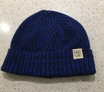 ABERCROMBIE   FITCH Blue Cotton Blend O S Beanie Hat BNWT 749493acce3