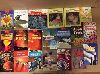 Lot of 20 Science Nature Experiment Geographic Animal Educate Children Book #F56