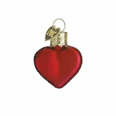 Shiny Matte Finish Small Red Heart Old World Christmas Ornaments 30010