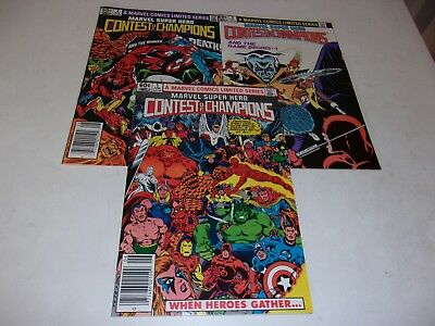 Contest of Champions 1st mini # 1-3--Bill Mantlo,John Romita Jr--1982--VF
